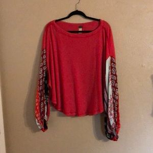 free people top (we the free ) oversized fit M